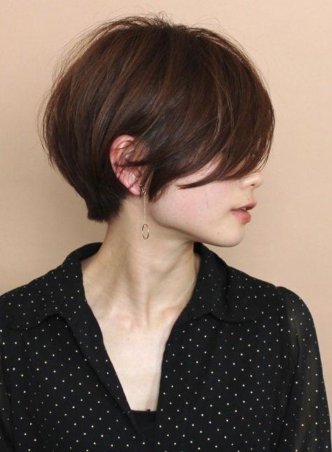 大人フェミニン うざバングショートボブ 髪型ショートヘア