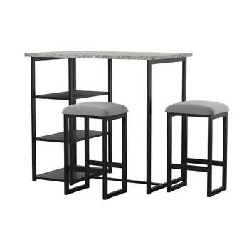 Frida 3 Piece Dining Set In 2020 Pub Table Sets Round Pub Table