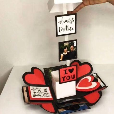 Easy gift DIY SCRAPBOX – #DIY #easy #Present #SCRAPBOX    -  #uniquegifts #uniquegiftsForGirls #uniquegiftsformen #uniquegiftsForParents #uniquegiftsForTeachers #uniquegiftsPictures