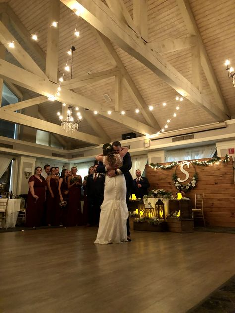 #firstdance #ballroom #weddingreception #weddingdress #rustic #diyweddingdecor #weddingdecorideas #bistrolights #sweethearttable #burgundy #lanterns #bridalparty #ronjaworskiweddings #blueheronweddings #summerwedding #fallwedding #winterwedding #njwedding #justmarried #ido #isaidyes