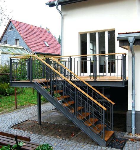 Holztreppe Aussen Terrasse Treppe Holztreppe Aussen Selber Bauen