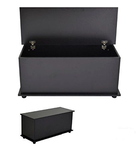 From 29 99 Home Source Ottoman Storage Chest Black White Oak Toy