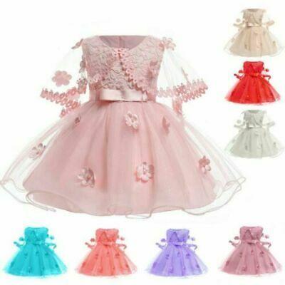 Flower girl dress kid party tutu baby Princess formal bridesmaid dresses wedding