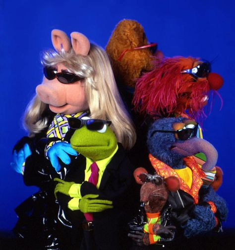 Muppets in shades Miss Piggy, Jim Henson, Sesame Street Muppets, The Muppet Show, Kermit The Frog, Photo Wall Collage, Mood Pics, Elmo, Reaction Pictures