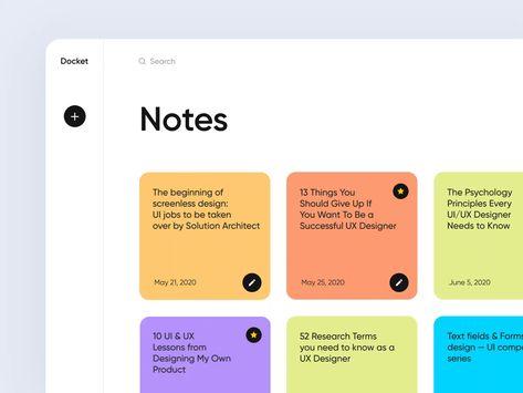 Docket note (Side menu)
