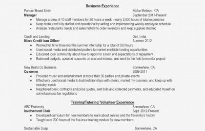 Graduate School Resume Objective Statement Examples And Great