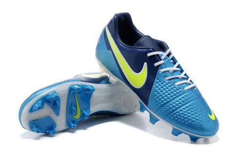 hot sale online d203b 8bce6 Chaussures de foot nike CTR360 Maestri III FG Bleu Blanc Jaune pas cher