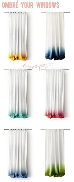 Ombre Dip Dyed Window Panels  This Would Be A Great Shower Curtain Idea    For The Double Curtain. The Waterproof On The Inside, And The  Gauzier Feeling One ...