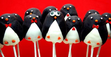 Penguin cake pops, adorable