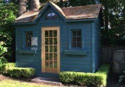 Palmerston Garden Shed 8x12 With Fan Arch Window In North York Ontario Id Number 189932 2 Shedplans Yard Sheds Backyard Sheds Cottage Garden Sheds