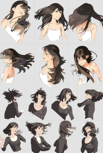 44 Best Ideas For Hair Drawing Tutorial Bob Long Hair Drawing How To Draw Hair Hair Reference