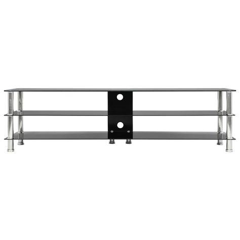 vidaXL TV Stand Black 150x40x40 cm Tempered Glass