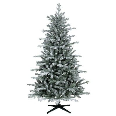 on sale 656ae b4e7b 6ft Unlit Artificial Christmas Tree Flocked Balsam Fir ...