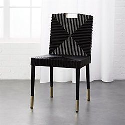 Set Of 2 Bombelli Modern Dining Chair Black Project 62 Dining