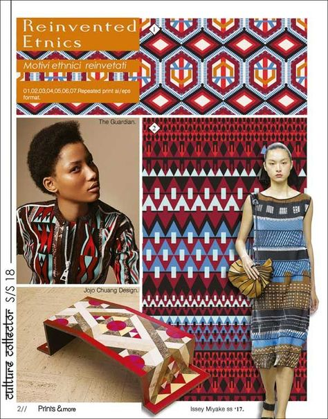 Prints and More SS 2018 is an ideal addition to colour and theme forecasts for everybody working with high-fashion printed patterns for Women & Men.