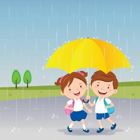 Children Under The Umbrella Rainy Day Rainy Day Art Therapy Projects Rainy Photos