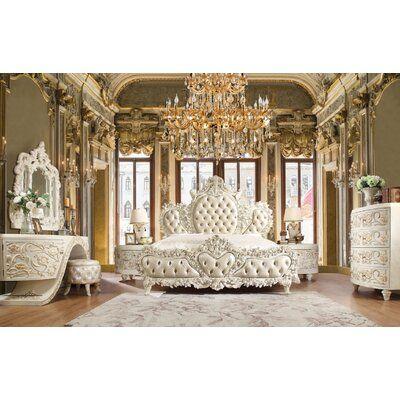 Astoria Grand Morrigan Luxurious Traditional Upholstered Standard Bed Wayfair Luxury Bedroom Sets Luxurious Bedrooms King Bedroom Sets