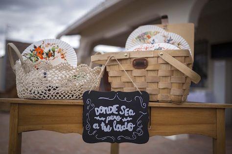 Paper Fans at a Rustic Chic Mint Wedding via Kara's Party Ideas l KarasPartyIdeas.com #rusticwedding #mintwedding #rusticchic #weddingideas (21)