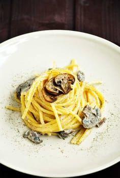 Vegan Mushroom Alfredo Pasta Receita Receitas Gastronomia Culinaria