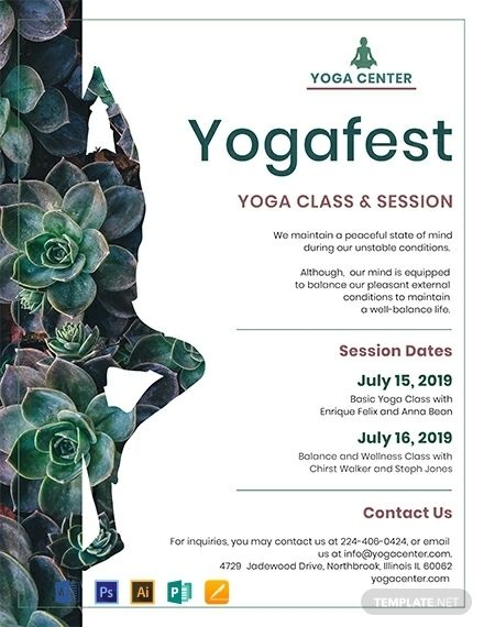 Yoga Flyer Templates Free Fotografi