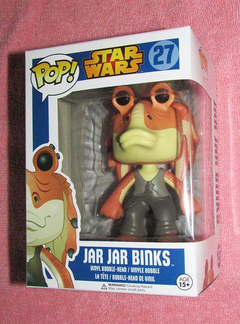 Funko POP Star Wars JAR JAR BINKS 27 Vinyl Figure Rare Retired w/ Free Protector