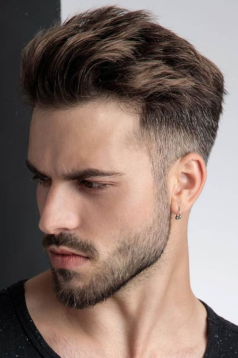 Brush Up Taper Menshairstyles Hairstylesformen - Short Haircuts For Men - Brush Up Taper Want to keep up with the mens hairstyles trends of - Trendy Mens Hairstyles, Side Part Hairstyles, Boy Hairstyles, Haircuts For Men, Mens Hairstyles Medium Undercut, Trending Hairstyles For Men, Wedding Hairstyles, Saree Hairstyles, Undercut Men