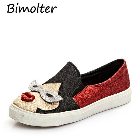 Bimolter New Soft Leisure Flats Women Shoes Comfortable Mom
