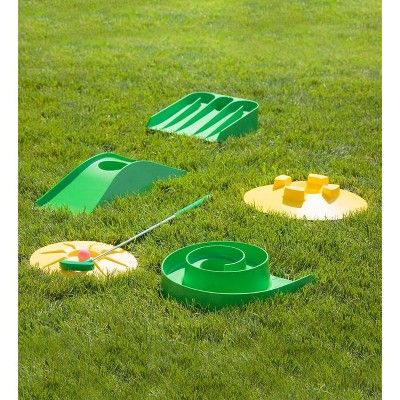 Design Your Own Mini Golf Course Kit With Storage Bag Hearthsong Mini Golf Course Golf Courses Mini Golf