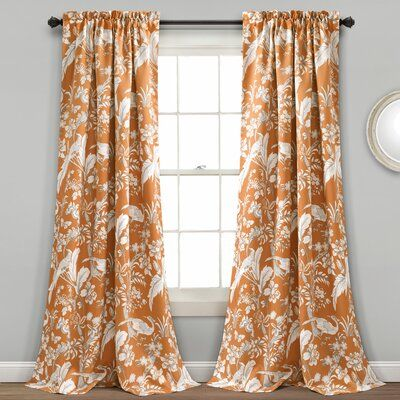WAVERLY Curtains for Bedroom Onyx Charmed Life 52 x 84 Decorative Single Panel Rod Pocket Window Treatment Privacy Curtains for Living Room