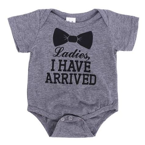 2a739aa1f Casual Letters Print Gray Baby Romper Summer Jumpsuit Clothes Boys Girls  Bow Tie Short Sleeve One-piece Romper Fashion Clothing