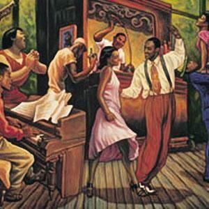 Swing Night Sarah Jenkins Music African American Art Print 16x20