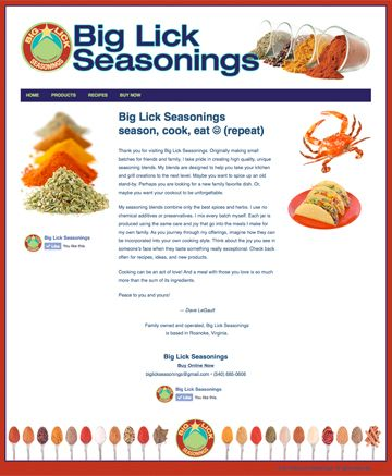 Big Lick Seasonings at http://www.biglickseasonings.com/. Start your foodie Christmas shopping here! Design by Sue England Design (http://senglanddesign.com).