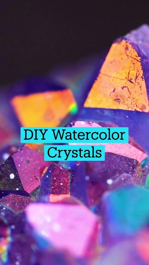 DIY Watercolor Crystals