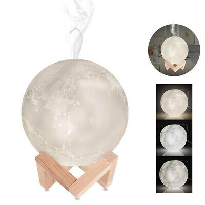 Aromatherapy Usb Light Mist Maker 3d Moon Lamp Diffuser Aroma Humidifier 880ml Aroma Essential Oil Aromatherapy Mist Mists