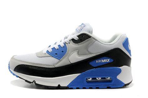 air max 90 noir blanc bleu
