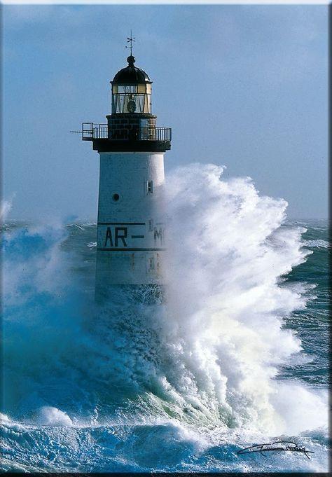Magnet Bretagne Le phare d'Ar-Men - Finistère - Guillaume Plisson