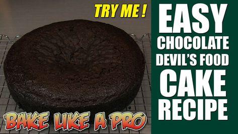 Easy Moist Chocolate Cake Recipe ! - Devil's Food Cake