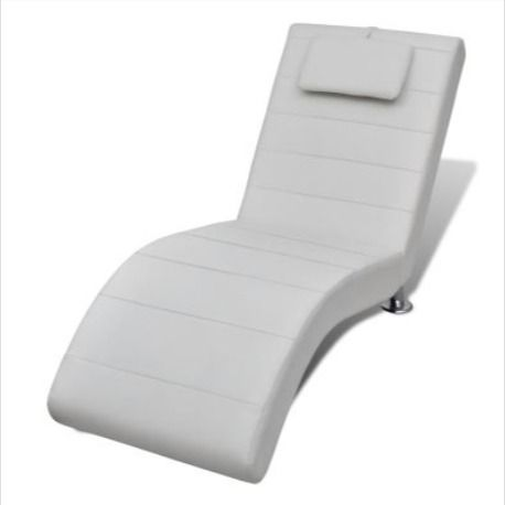 chaise longue relaxation blanc pied