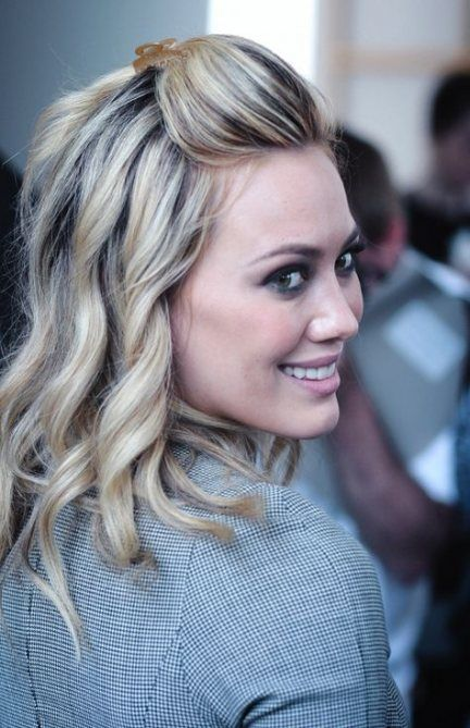 42 Trendy Hairstyles With Bangs Pulled Back Hair Styles Hilary Duff Hair Pulled Back Hairstyles