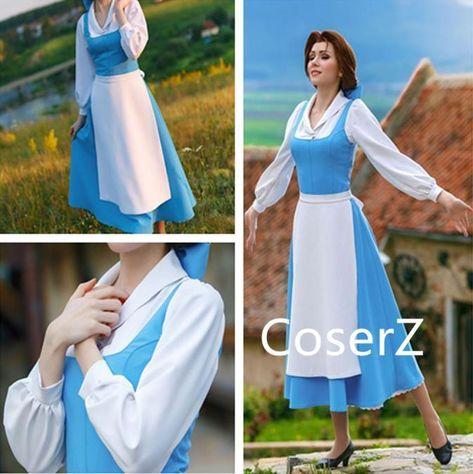 Custom-made Belle Blue Dress, Blue Belle Costume, Belle Cosplay Costum – Coserz
