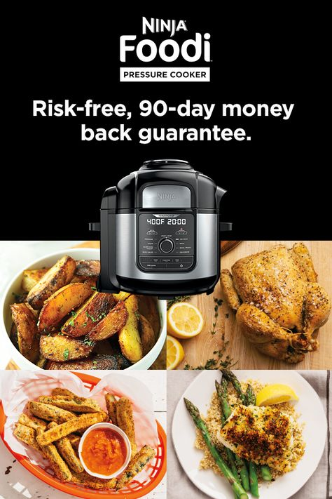 Pressure Cooking Makes it Juicy. Air Frying Makes it Crispy. Now you Can Have Both in One. Buy Your Ninja Foodi Today.