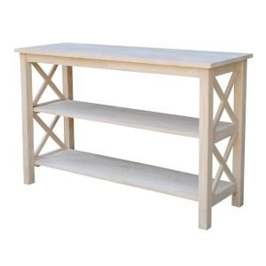 International Concepts Hampton Unfinished Console Table Ot 70s