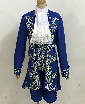 Anime Beauty and the Beast Movie Prince Cosplay Costume Complete Outfits