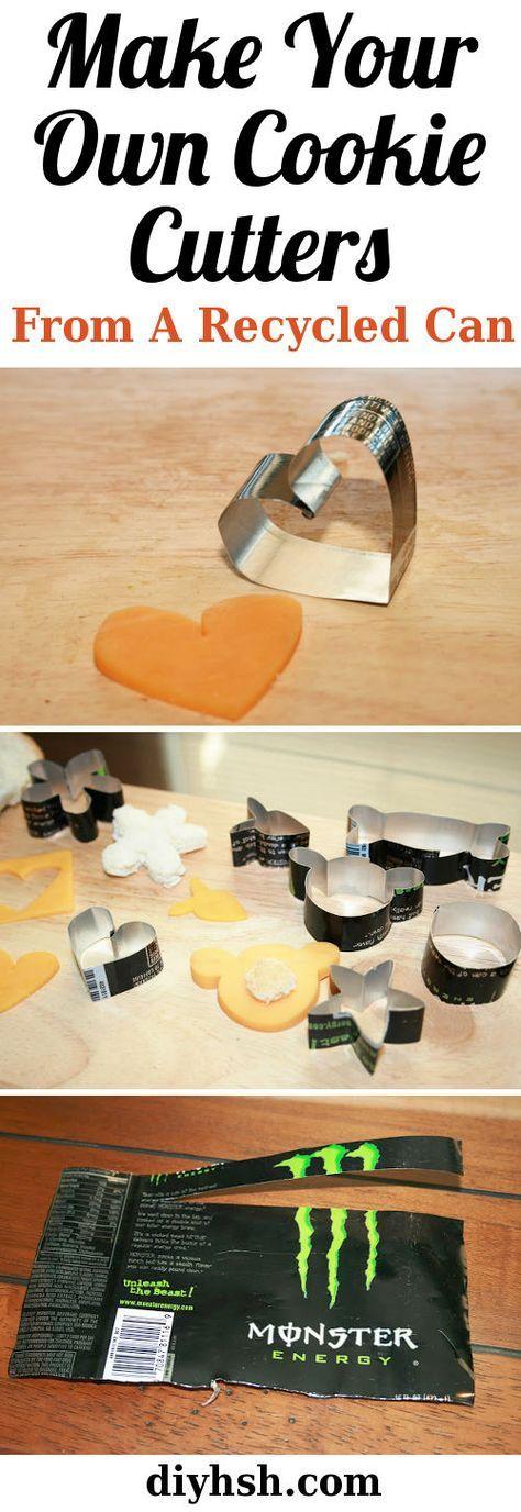 Diy Cookie Cutters #Cookies #Baking #Recycle #DIY #diyhsh
