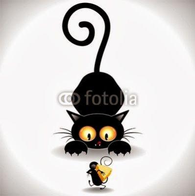 Black Cats Attack Cat Cartoon Images Black Cat Art Cat Art