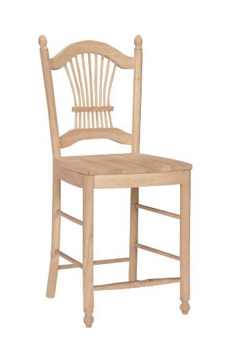 International Concepts S 162 Sheaf Back Stool 24 Inch Sh Unfinished Review Https