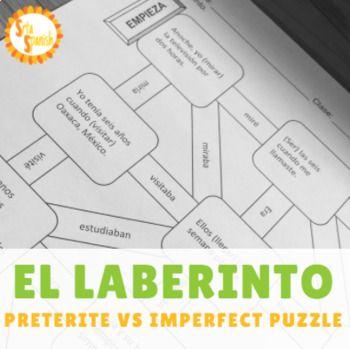 Preterite Vs Imperfect Spanish Laberinto Practice Activity