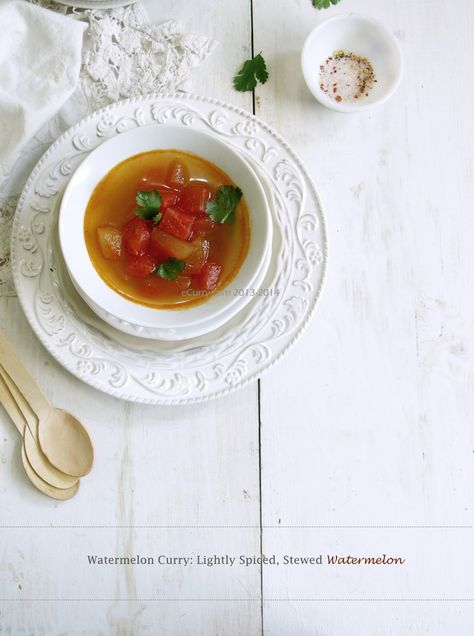 Lightly Spiced Stewed Watermelon