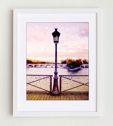 Paris Love Locks, Pink Paris, Pont des Arts, Paris Lock Bridge, Paris Bridge Large, Seine, Paris Decor, Gift Idea by LafayettePlace on Etsy https://www.etsy.com/listing/231857922/paris-love-locks-pink-paris-pont-des