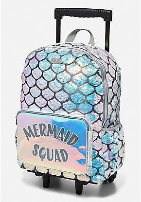"Lunch Tote Set NWT Very Cute! Justice Girls Mermaid Initial /""B/"" Backpack"